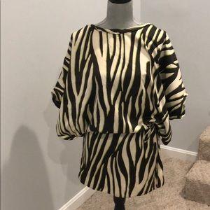 Zara zebra print dress